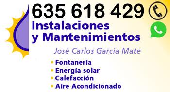 Instalaciones y Mantenimientos José Carlos García Mate